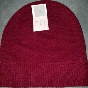 Cashmere Burgandy Hat